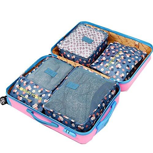 FakeFace 6 PCS Gepäcktaschen Gepäckabgabe Aufwahrungstasche Reise Gepäck Spielraum Reisetaschen Kofferorganizer Verpackungs Beutel Unterwäsche Bekleidung Schuhe Reisentaschen Gepäck 1