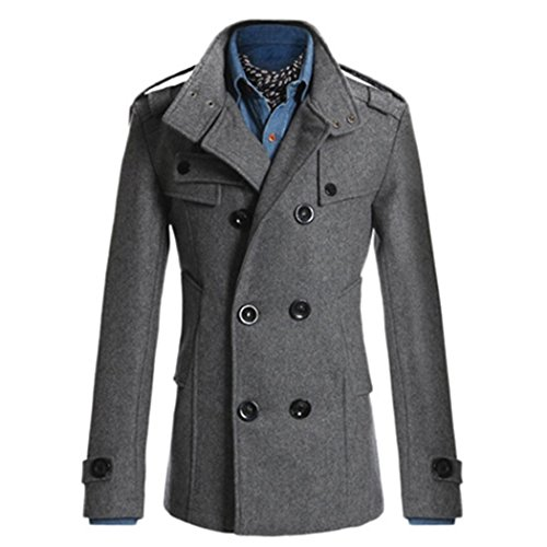 Mr.Angelo - Manteau - Trench - Homme Gris