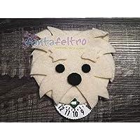 Disco orario cane Maltese - idea regalo uomo donna