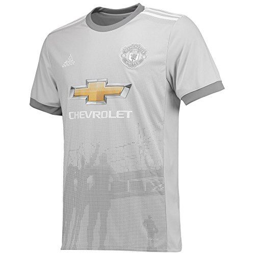 Adidas MUFC 3 JSY Camiseta 3ª Equipación Manchester United 2017-2018, Hombre, Gris grpulg/Blanco...