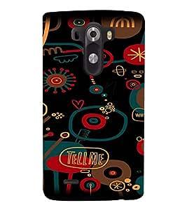 Fuson Premium Tell Me Printed Hard Plastic Back Case Cover for LG G3