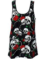 Prohibido de ropa con - diseño de calavera y Swing de costura para chalecos de diseño de rosas