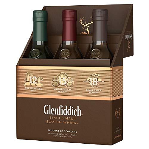 Glenfiddich Mix Pack 12 Jahre, 15 Jahre und 18 Jahre Single Malt Whisky (3 x 0.2 l)
