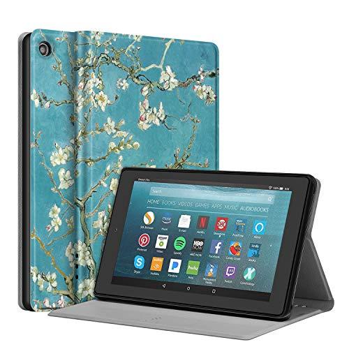 Fintie - Funda para Tablet Amazon Fire 7 (9ª generación, liberación 2019), [Protector Delgado] con función de Apagado y Encendido automático, función de Encendido y Apagado automático, Z-Blossom