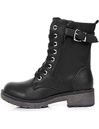 Shoes Click Botas de Piel Sintética Para Mujer Negro Negro