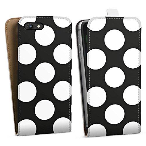 Apple iPhone X Silikon Hülle Case Schutzhülle Dots 50er Punkte Downflip Tasche weiß