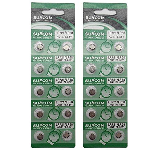 SUNCOM Batterie Single Use Lr721 Lr58 SR720 R58L L721 S12 Uhr Spielzeug-Kameras Fernbedienungen (20...