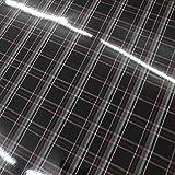 Finest Folia (33,91€/m² - 71,40€/m²) Jacky Stoffmuster MATT & Glanz Car Wrapping Luftkanalfolie GTI Look Folie Karo (Schwarz-Rot Glanz, 50 x 140 cm (52,84€/m²))