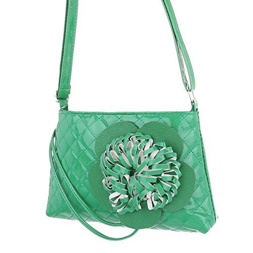 Ital-Design, Borsa a spalla donna Verde