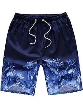 Ushero Bañadores de Natación Hombre Pantalones Cortos de Nadar Traje de Baño Secado Rápido con Cintura Elástica...