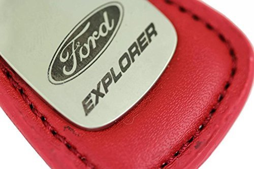 dantegts-ford-explorer-piel-clave-cadena-tear-drop-llavero-llavero-lanyard-rosso