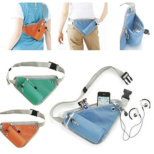 Multifunktions Gôrteltasche Laufen Jogging Water Packung Trangle Pouch Farbe Sky Blue