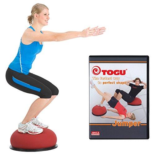 TOGU Jumper Set Balancetrainer Trampolinball Fitnesstrainer Kinder ø 52 cm + DVD