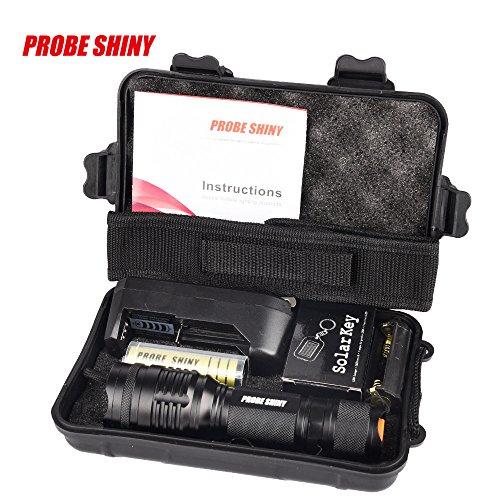 Taschenlampe Set 5000 Lumen Jamicy® X800 Zoomable XML T6 LED Taktische Taschenlampe + 18650 Batterie + Ladegerät + Fall Beleuchtung Entfernung 100-200 m