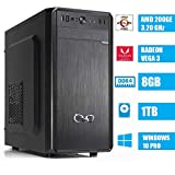 - CeO Alpha V1 - PC Desktop AMD 200GE 3.20GHz 4MB Cache | 8GB Ram DDR4 | 1TB Hard Disk |Scheda Grafica Radeon Vega 3 | FULL HD / 4K | USB 3.0 | WINDOWS 10 PRO