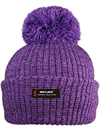 1f2d14c6c37 Rock Jock R40 Thermal Insulation Ladies Women Marl Cosy Beanie Bobble Hat  with Fleece Lining Ladies