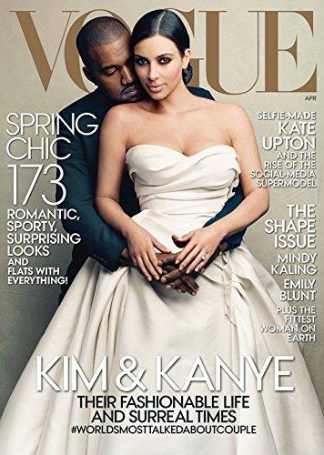 Vogue Magazine April 2014 - Kanye West & Kim Kardashian - Historic Cover