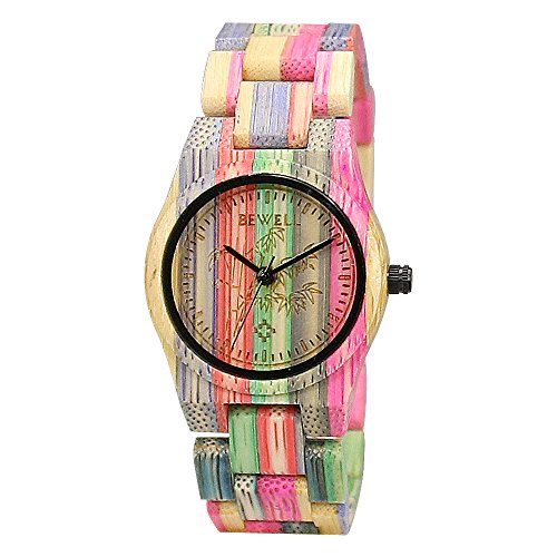 BEWELL Orologio in Legno Donna Colorati di Bambù Watches