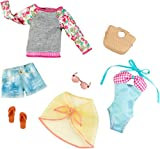Barbie Fashion komplett Look 2er Pack, Strand Set