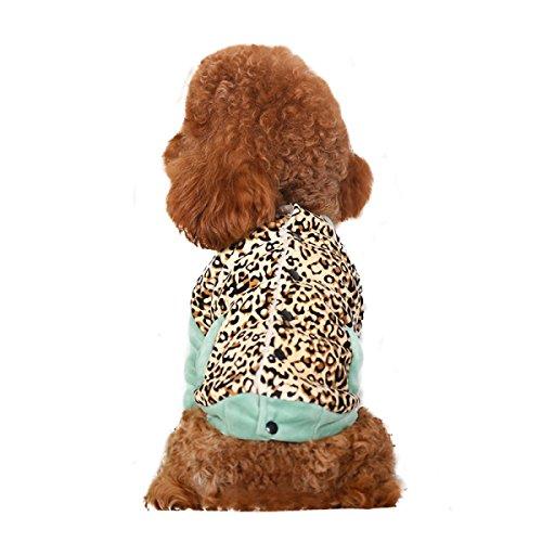 LDFN Baseball Leopard Hund Kleidung Hund Kostüme Doglegs Mantel Haustierkleidung Weich Warm Dongkuan,OneColor-XL