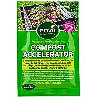 Envii Compost Accelerator- Envii Acelerador de Compost - Tratamiento Bacteriano que acelera el Proceso de Compostaje Iniciador & Descompositor Orgánico -12 Tabletas
