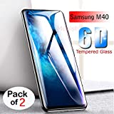 Mobistyle Full Glue Edge-to-Edge Screen Protection 6D Tempered Glass for Samsung M40 [Sale Period Introductory Price] (Pack of 2)