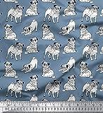 Soimoi dekorative Mops Dot Print Baumwolle Popeline Stoff
