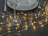 Lichterbündel Kupferdraht formbar mit 160 warmweissen LEDs 76639