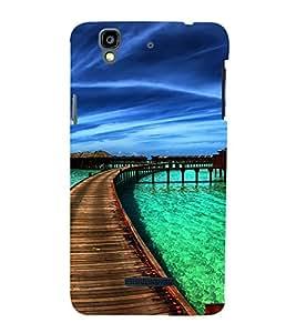 PrintVisa Caribbean Beach 3D Hard Polycarbonate Designer Back Case Cover for YU Yureka :: YU Yureka AO5510