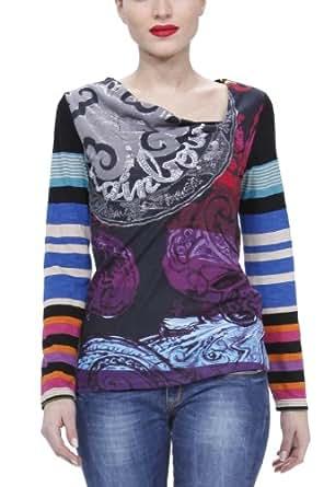 Desigual Malta - T-Shirt - Coton - Femme - Noir - XS