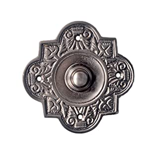 Adonai Hardware Parshandatha Decorative Brass Bell Push or Door Bell or Push Button (Oil Rubbed Bronze)