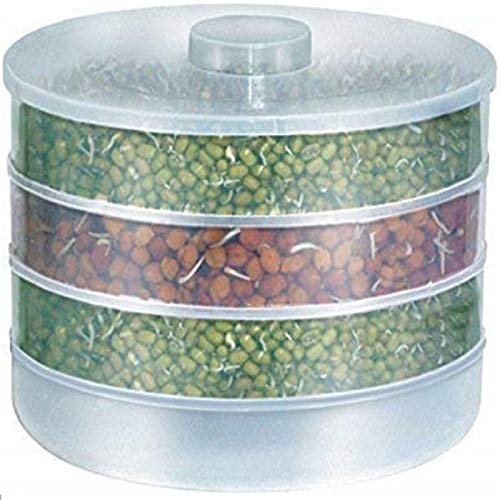 ATMAN Plastic Hygienic Sprout Maker Box with 4 Container Organic Home Making Fresh