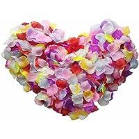 Skyshadow colores flores artificiales de pétalos de rosa pétalos de seda boda romántica propuesta, 2000 pcs