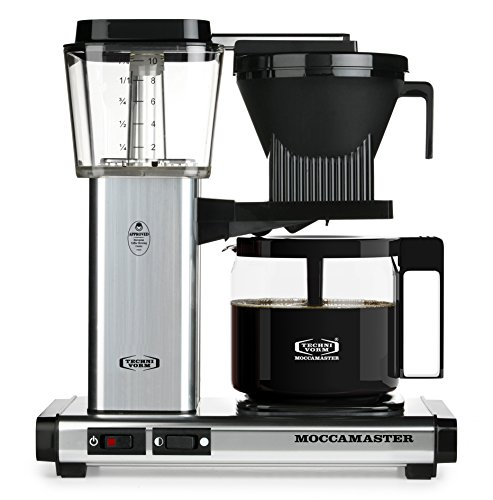 Moccamaster KBG 741 10-Cup Coffee Brewer with Glass Carafe, Polished Silver...