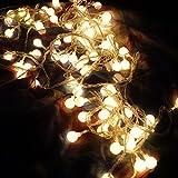 Rrimin 5M LED String Globe Star Fairy Light For Wedding Christmas (Warm White)