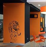 Wandtattoo Tiger Afrika Wandaufkleber Wandsticker Wallprint (Größe 110x60) Nr. 107