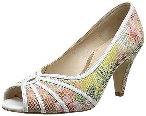Van Dal Damen Hart Peep-Toe, Multicolour (Tropical Floral), 39 EU