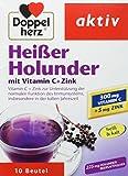 Doppelherz Heißer Holunder | Vitamin C und Zink zur Unterstützung der normalen Funktion des Immunsystems | 3 x 10 Beutel