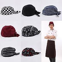 Sharplace 4 Pezzi Cappello Cuoco Bandana Tessuto per Testa Wrap Tied Cap  Unisex per Chef 00c2b4d8aedc