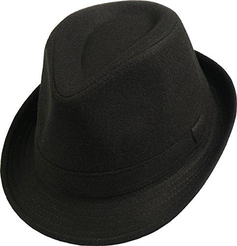 Trilby Hut in schwarz oder grau, Farben:schwarz, Kopfgröße:L