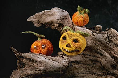Nadel gefilzt Kürbis Halloween Kürbis Gesicht Herbst Herbst Dekoration Nettes Kürbisgesicht Jack o Laterne ()