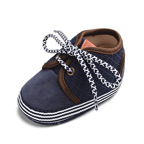 Neugeborenes Baby Kleinkinder Mädchen Junge Patchwork Weich Anti-Rutsch Schnüren Schuhe Hell Beiläufig Prinz Prinzessin atmungsaktiv Karikatur Weihnachten Holloween Turnschuhe ()