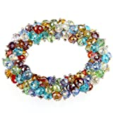 Ecloud Shop Kristall Glas 6mm Armband Armkette Perlenarmband Bunt CHARMS