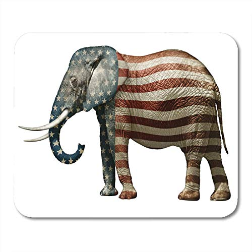 Klassische Republikanische Elefant (Luancrop Mauspads Politischer republikanischer Elefant US Flagge-Wahlkampf-Tierwahl Mousepad für Laptop, Tischrechner-Zusätze Mini Office Supplies Mouse Mats)