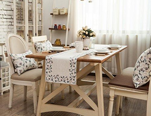 Chemin de table QiangZi Plat Angle Floral Motif Salon Cuisine Bureau De Mariage Partie Décoration Nappe De Table Nappe, 30 * 200 Cm (Taille : 30 * 160cm)