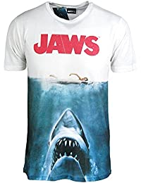 Jaws Movie Tshirt - Mens Shark Jaws T Shirt - Movie Poster Sublimation Print TeeShirt