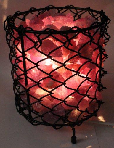 budawi® - Amethyst Lampe, Edelsteine ca. 3kg im Korb beleuchtet, Edelsteinlampe - Amethystlampe (Lampe Mit Edelsteinen)