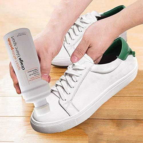 Limpiador Universal de Zapatos Zapatillas de Deporte Limpiador Eliminar Amarillo Blanquear Limpieza Crema Limpiador de Zapatos Zapatos Blancos Limpiadores para Blancos, Nobuck, Botas, Sandalias