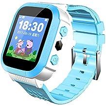 WATCH GYQ@ Estudiante teléfono Reloj Pantalla táctil posicionamiento Inteligente Reloj Infantil Regalo electrónico,Blue