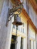 Antikas - Wandglocke mit Welcome, Gartentor Dekoration, Glocke fürs Gartenhaus Türglocke
